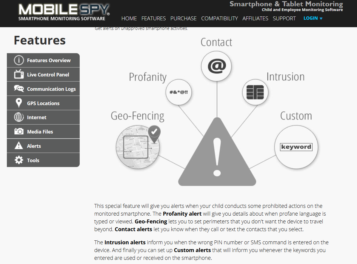 Mobile Spy Geo Fencing Alerts