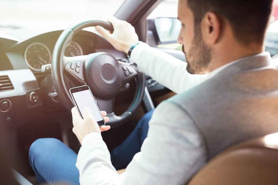 Drivers are four times more likely to be involved in an accident when using a mobile phone.