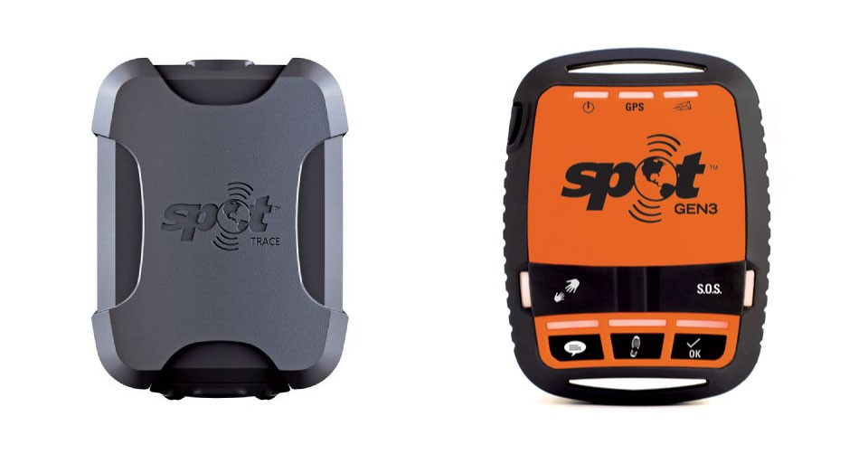 The Spot Trace and Spot Gen3 GPS tracking and transmitting devices