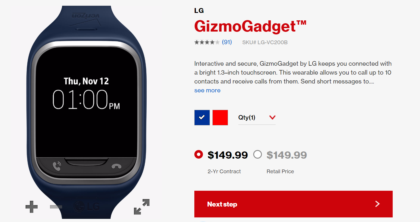Gizmogadget: smartwatch with touchscreen