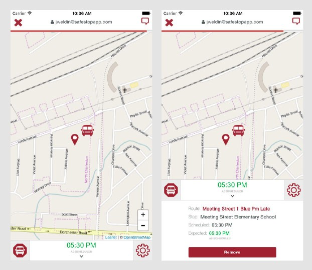 SafeStop School Bus Tracking App