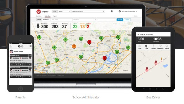 Treker School Bus Tracking Application