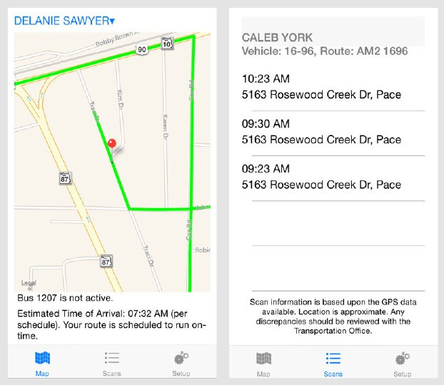 Verstrans School Bus Tracking Mobile App